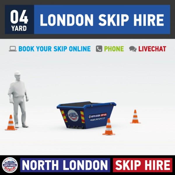 4 Yard Skip Hire, London Skip Hire