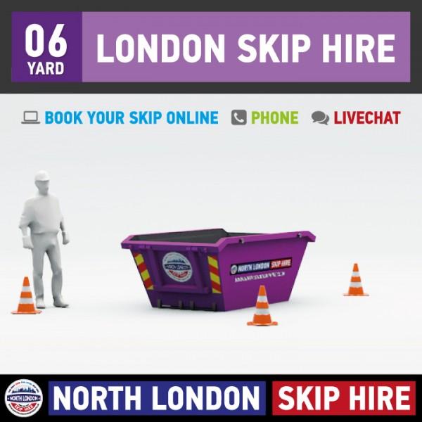 6 Yard Skip Hire, London Skip Hire